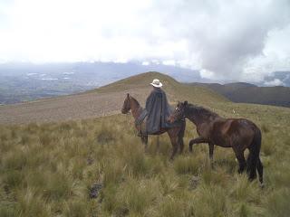 ratsastusmatka, riitta reissaa, volcano, ecuador, chagra