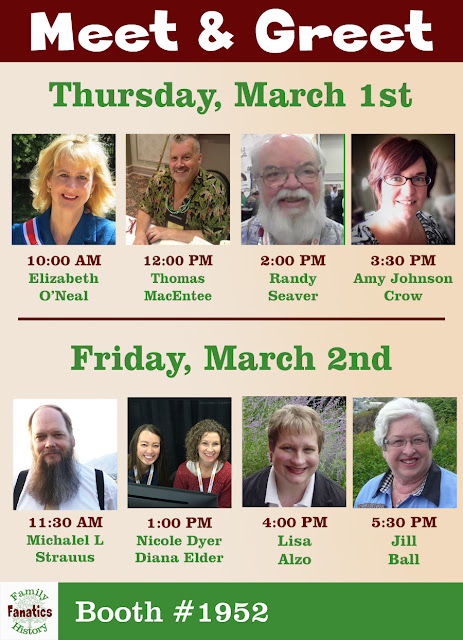 Family History Fanatics Meet & Greet Schedule at RootsTech 2018
