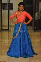 Nithya Shetty in Orange Choli at Kalamandir Foundation 7th anniversary Celebrations ~  Actress Galleries 136.JPG