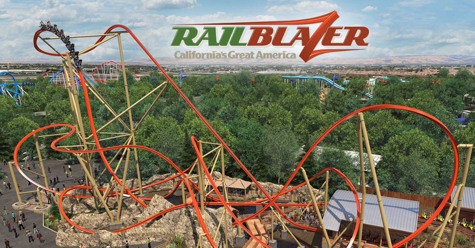 Newsplusnotes Railblazer At Californias Great America Makes First