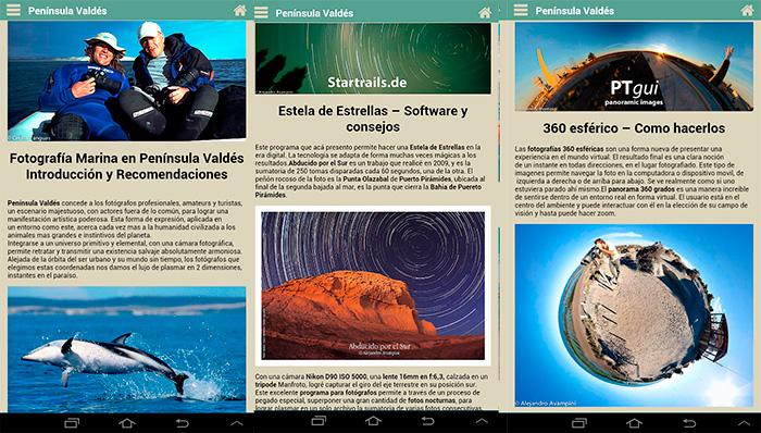 Aplicación Viajes Peninsula Valdes Fotografia Aventura