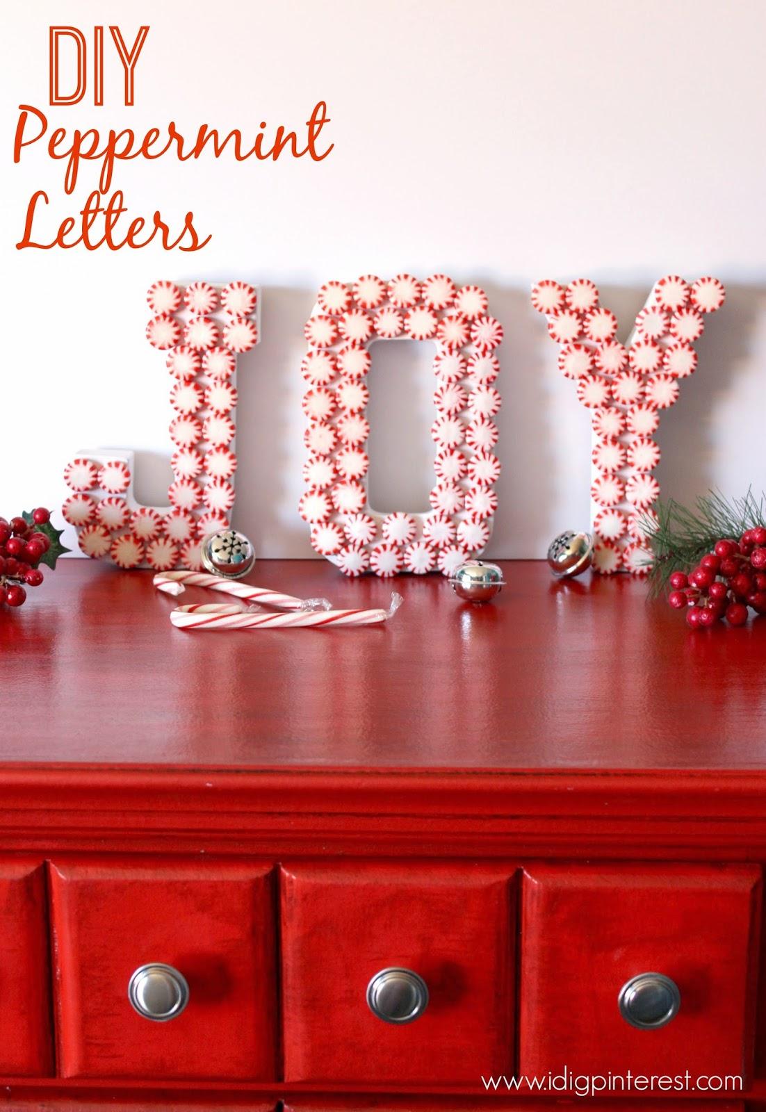 Peppermint Joy Letters Design Dazzle