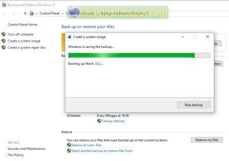 Mengamankan Windows 10 Dari Malware Dengan Membackup Sistem Windows
