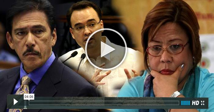WATCH: De Lima Nasermonan Ni Sotto at Cayetano sa Senate Hearing