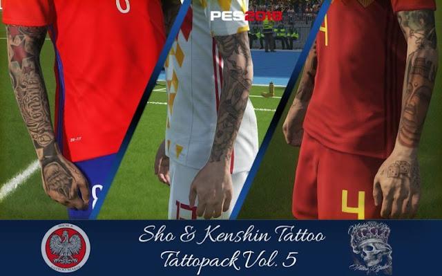 KS Tattoo Pack PES 2018