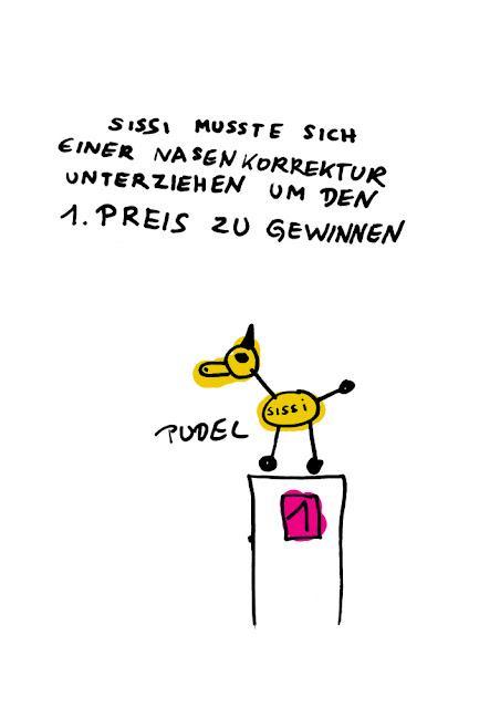 Dr. Kristian Stuhl 2012, Pudel Sissi,  Das Klo spült alles fort, A4