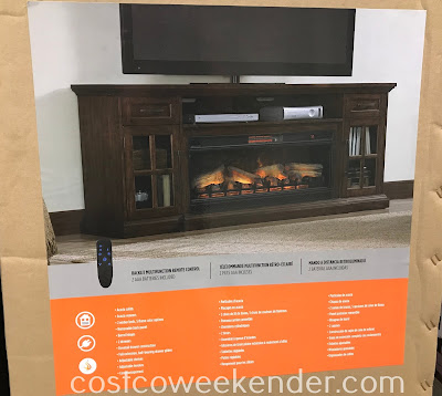 Costco 1136461 - Tresanti Fireplace Console: great for any living room or family room