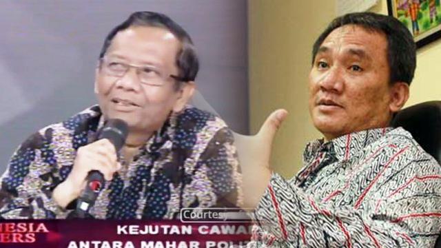 Lebih Dahsyat Cuitan Andi Arief atau Omongan Mahfud MD?
