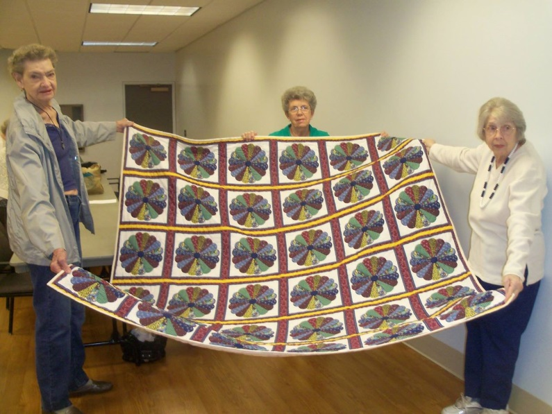 CCC members quilting