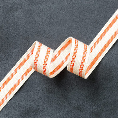 "Stampin' Up! Clearance Rack, Tangelo Twist 5/8"" Striped Cotton Ribbon"