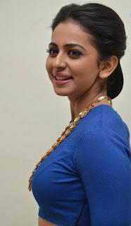 Rakul Preet Hot Pics In Blue Dress