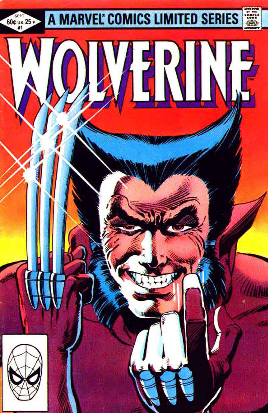 Wolverine v1 #1 - Frank Miller art 1980s marvel comic book cover