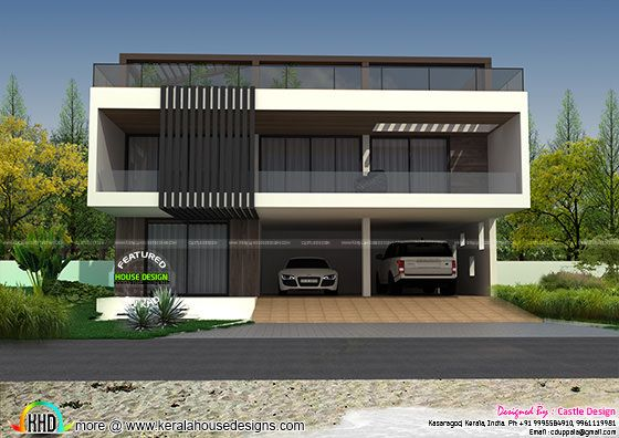Front Terrace Elevation Images : House with terrace swimming pool kerala home design and