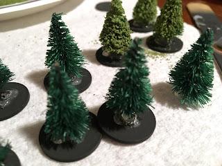 Tutorial 6mm trees Michael's flock Citadel buff Games Workshop