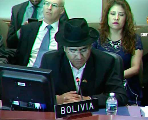 Bolivia suspende la sesión sobre Venezuela convocada hoy en la OEA