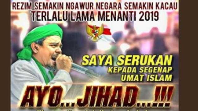 Seruan Jihad HRS Lawan Preman, Warganet: Kita akan Ikut Komando Imam Besar