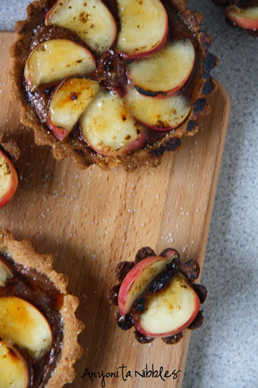 Summer peach and chocolate tart dessert by Anyonita Nibbles