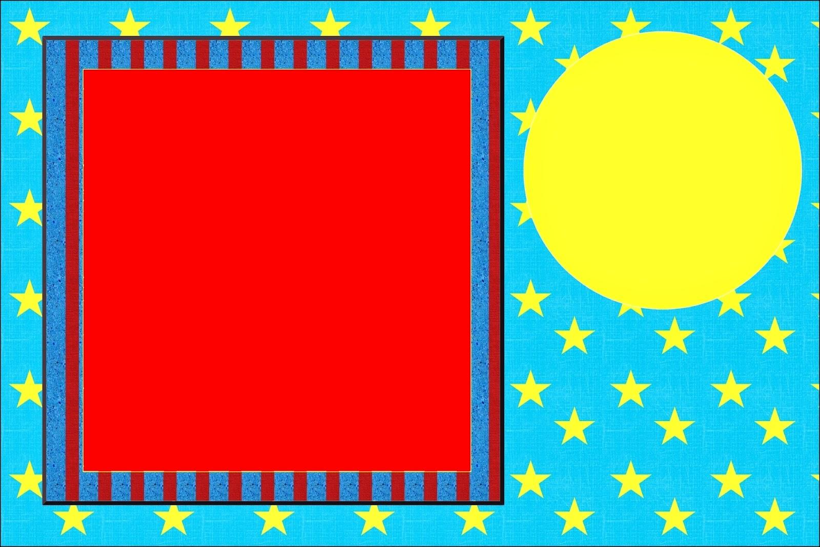 Para hacer invitaciones, tarjetas, marcos de fotos o etiquetas, para imprimir gratis de Estrellas sobre Fondo Celeste