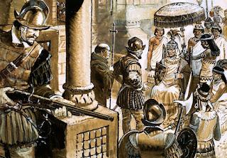 Atahualpa no se esperaba la emboscada que le habían tendido.