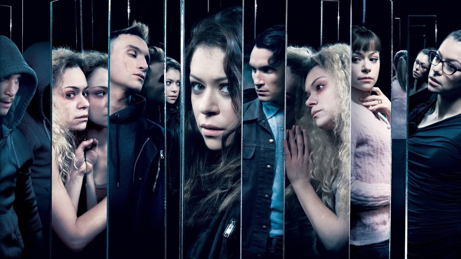 Los clones masculinos y femeninos de Oprhan Black, en un poste promocional de la tercera temporada