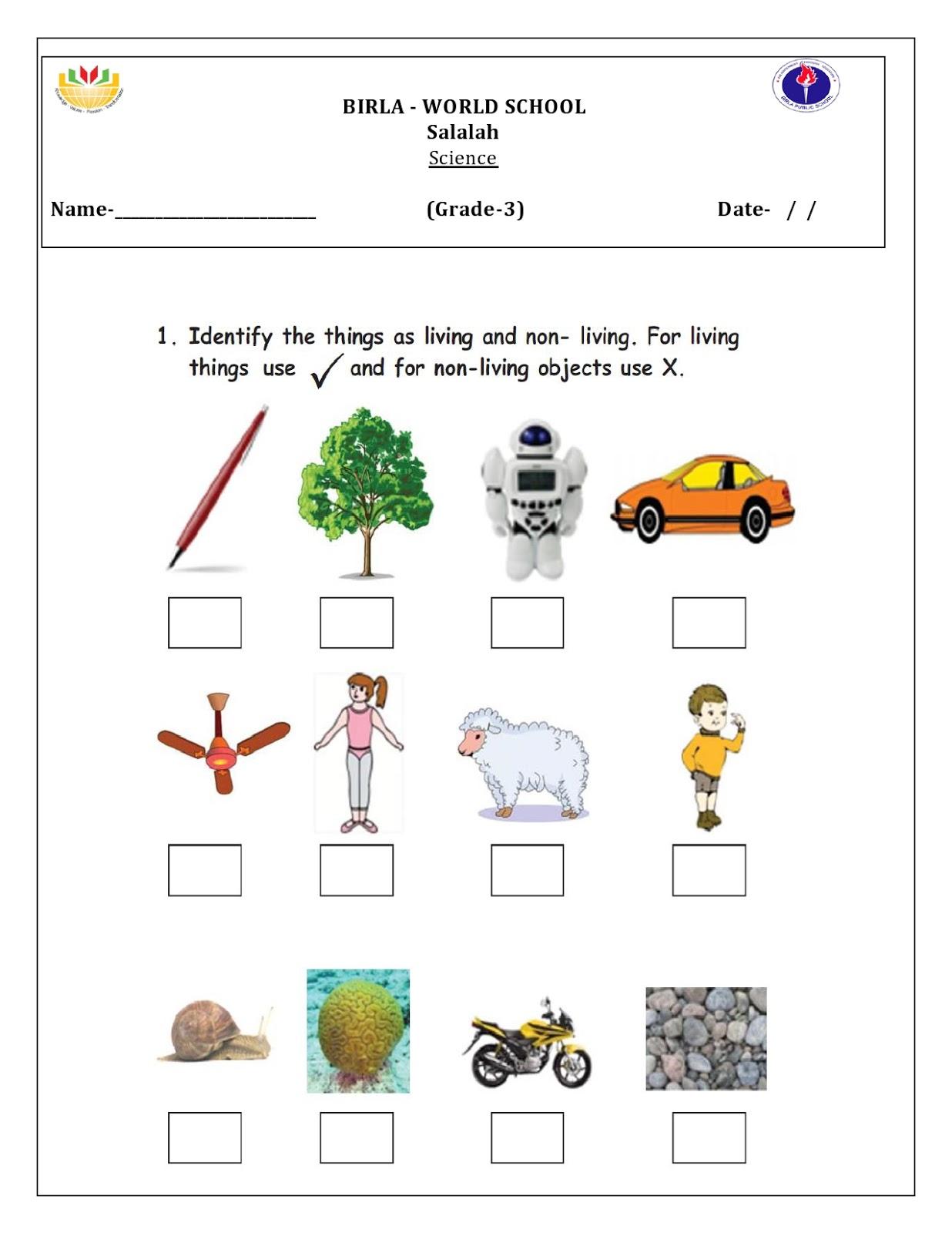 Birla World School Oman Homework For Grade 3b On 26 05 16