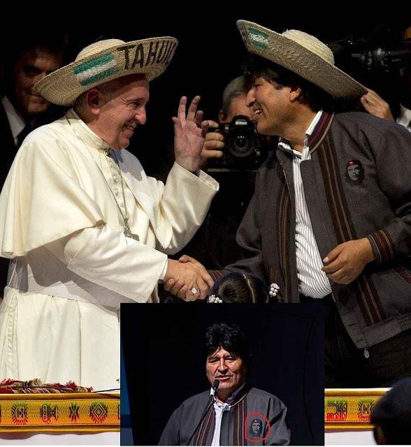 O segundo encontro em Santa Cruz, Bolívia. Evo com Che Guevara.