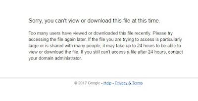 mengatasi limit download google drive dengan mudah