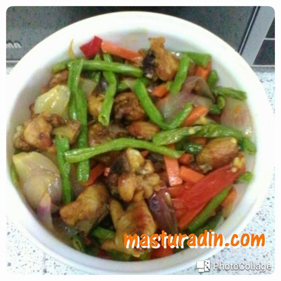 resepi ayam goreng kunyit, masakan orang malas, bahan-bahan, cara-cara