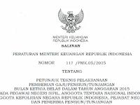 Surat Resmi Keputusan Kemenkeu Tentang Gaji 13 Tahun 2015