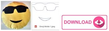 DIY Almofada emoji 7 modelos