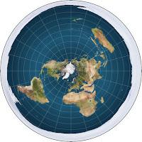La Tierra en proyección acimutal equidistante