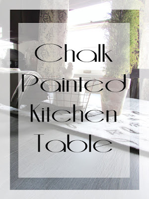 Chalk Painting kitchen table