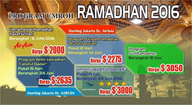 Promo Umroh Murah Ramadhan 2016