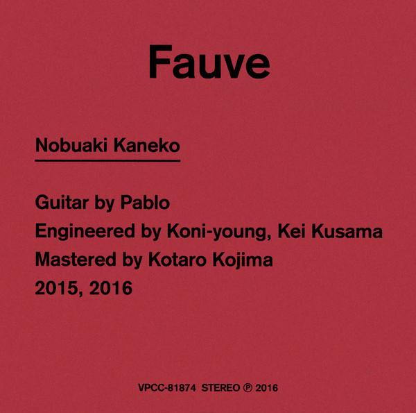 [Album] 金子ノブアキ – Fauve (2016.05.11/MP3/RAR)