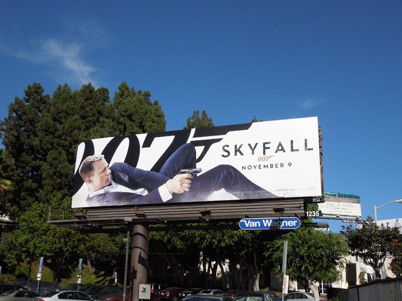 Skyfall 007 billboard