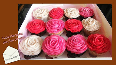 Cupcake yang disukai anak perempuan adalah tema bunga
