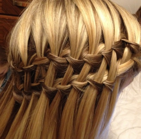 water fall hair styles waterfall braids need styling to help 5403