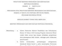 Permendikbud Nomor 9 Tahun 2018 tentang Juknis PIP 2018