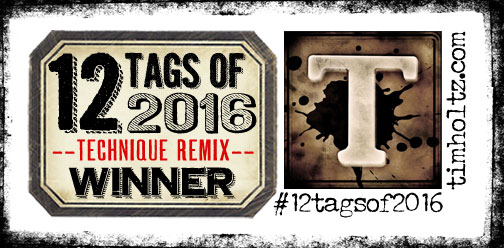 Tim Holtz Challenge Oct Winner 2016