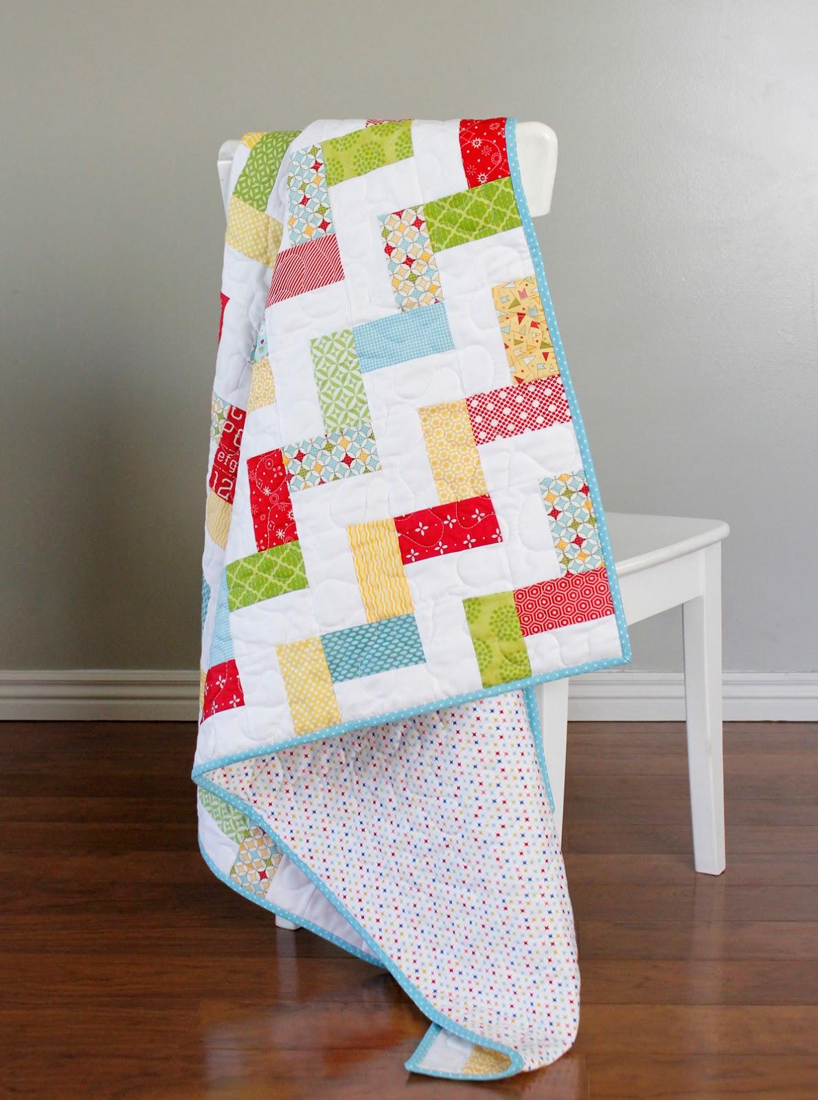 Baby Quilt Patterns.A Bright Corner Stairway Baby Quilt A Free Quilt Pattern
