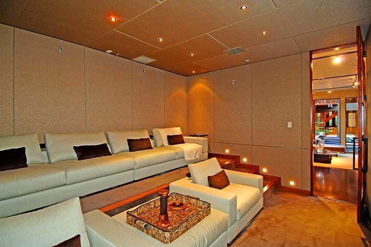 Home theater in Calvin Harris's new celebrity house