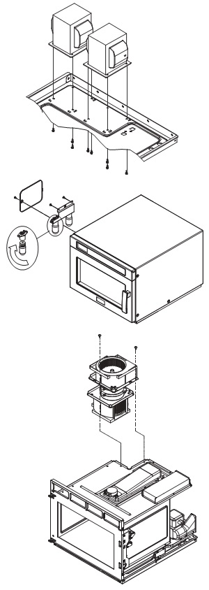 HOW TO DISASSEMBLE DAEWOO KOM-9F0CTS Microwave oven