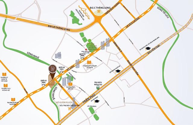 Giao thông thuận lợi của Roman Plaza