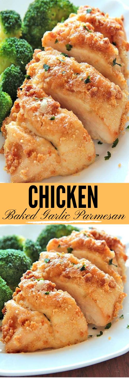 Baked Garlic Parmesan Chicken #food #parmesan