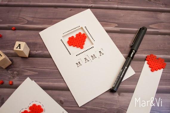 tarjeta con hama beads