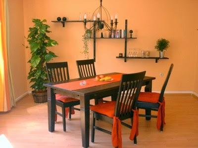 Fotos de comedores color naranja colores en casa for Comedor 2 colores