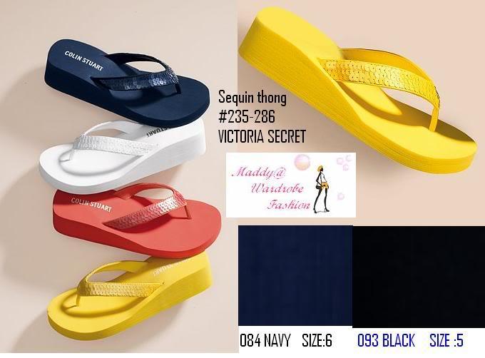 Victoria Secret Colin Stuart Sequin Flip-Flop  Wardrobe -5849