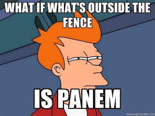 What if what's outside the fence is Panem? Divergent-Hunger Games humor