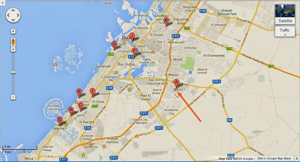 Detail Q Ball Billiards Dubai Location Map   UAE Dubai ...