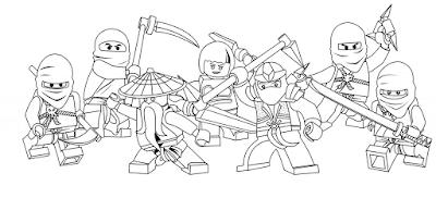 Gambar Mewarnai Ninjago - 2